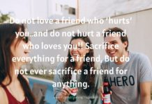 Friendship Day Quotes For Best Friend In English
