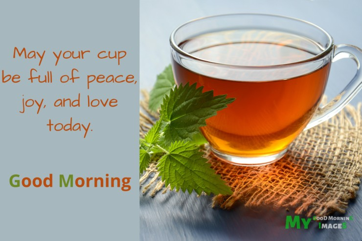 Good Morning Wishes With Tea Cup