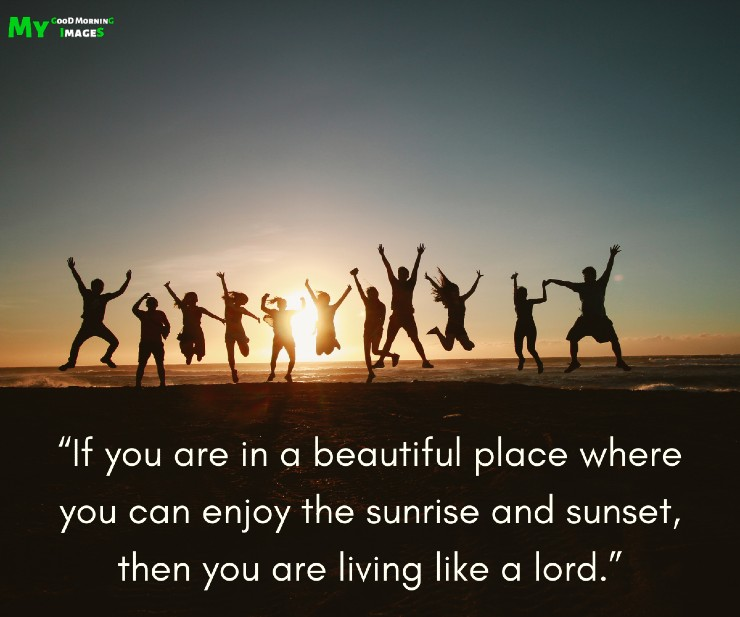 Good Morning Images With Sunrise Quotes