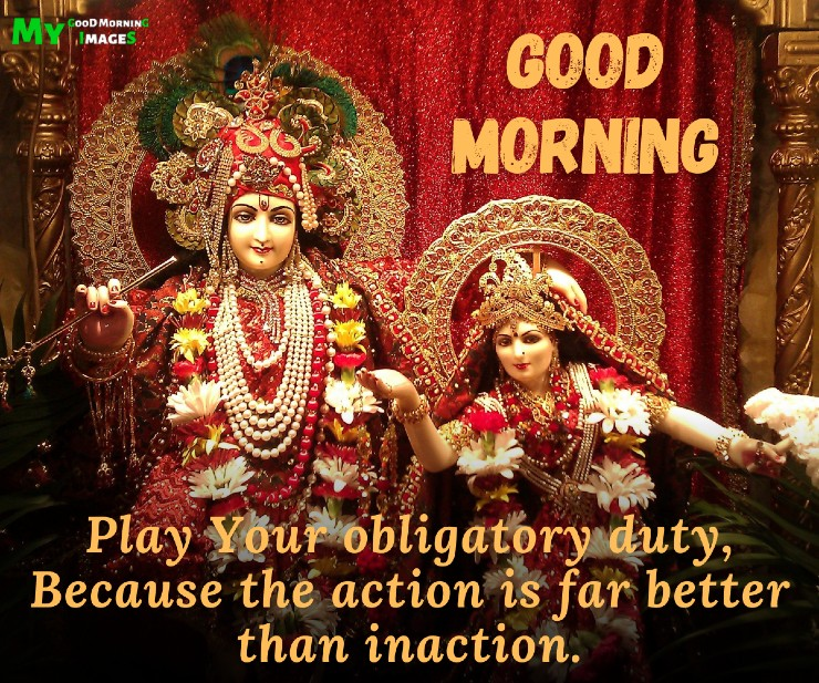 Good Morning Radha Krishna Images With Quotes