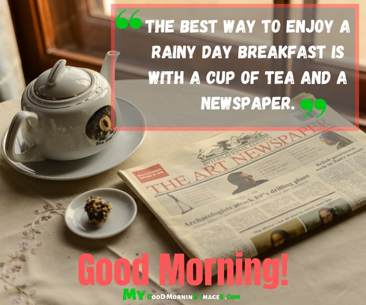 Good Morning With Tea And Breakfast Images