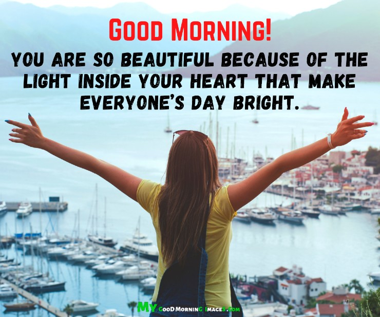 Good Morning Beautiful Lady Quotes With Images
